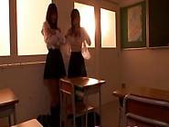 Lesbian Nippon Schoolgirls Kissing In Class