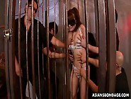 Sexy Japanese Teen Slave Girl Gets Her Mouth Fucked Hard In Gang