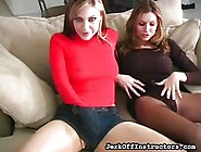 Two Hot Girls In Nylons Teasing