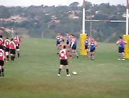 Guy Streaks Rugby Game