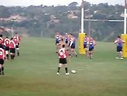 Guy Streaks Rugby Game