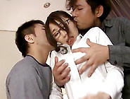 Kinky Asian Wife Gets Dominated By Her Husband And His Friend