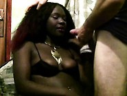 Ghetto Hooker With Saggy Tits Sucks White Cock Then Plays