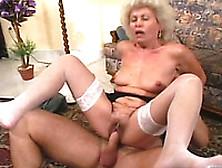 Shameless Blonde Granny Gets Hammered By Tireless Fucker