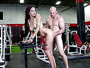 Slut Julie Kay Has Her Pretty Face Fucked Savagely At The Gym