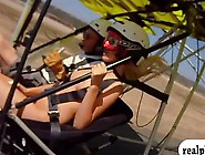 Big Tits Playmates Driving An Air Glider And Biking Exhibition