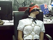 Tied,  Ballgagged And Blindfolded