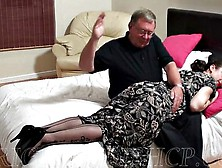 Amateur Ass Spanking Of A Girl In Vintage Lingerie