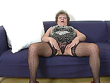 Big Belly And Saggy Tits On This Solo Masturbating Mature Babe