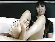 Asian Long Toenail Footjob