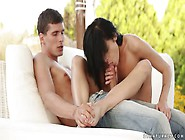 Daniella Rose Fucking On A Chill Out Sofa Outdoors