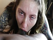 Pawg Wiggles Giant Butt While Gagging On Bbc Cum In Mouth Part 2