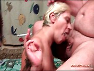 Fat Guy Smoking And Blown By A Mature Blonde