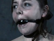 Gagged Beauty With Legs Widen Wide Acquires Toy Pleasuring