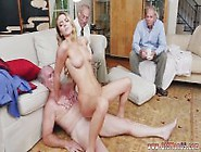 Hot Blonde Sisters Share A Big Cock And Young Teen Whipped First