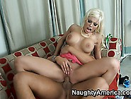 Britney Amber's Bouncing Her Huge Hooters As She Humps His Honke