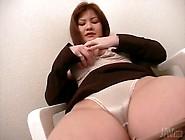 Rubbing Her Pussy Through Satin Panties