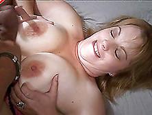 Fat Titties Chick Sucks A Big Dick And Gives A Titjob