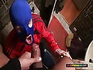 Masked Man Sucks Cock And Drinks Cum