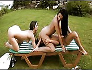 Three Lesbians Manipulating Their Tongues