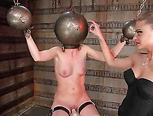 Brunette Hottie Gets Tortured And Pulled By The Nipples In Bdsm