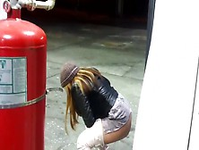 Pissing In The Gas Station