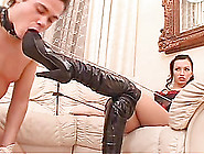 Fun Loving Russian Bimbo Enjoying Her Feet Being Licked In Femdo
