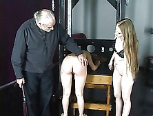 Cute Young Bisexual Bdsm Girls Love Getting Spanked Hard In The