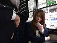 Japanese School Girls In A Bus 1