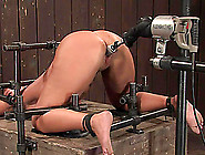 Bondage Device Hooks Mellanie's Ass And Fucks Her With A Machine
