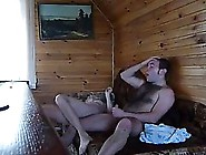 Russian Woman Is Sucking Her Partner's Dick In The Sauna,  T
