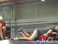 Pussylicking Babes Wrestling Before Foreplay Video