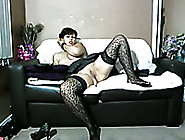 Emotional And Slutty Brunette Lady In Pantyhose And Heels Mastur
