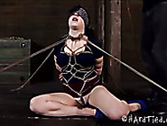 Shibari Porn Model Gets Her Pussy Tied Up