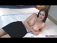 Downblouse On Bed