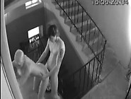 Security Cam Records A Couple Fucking In The Entrance Hall
