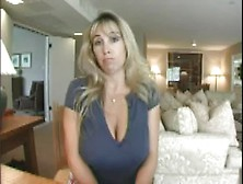 Busty Blonde Wife Blackmailed Fucks Hubby's Boss