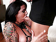 Her Big,  Sweaty Tits Bounce As She Grinds Herself On His Cock