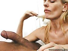 Sexy Mom Darryl Hanah Eagerly Suck Small Juicy Dick