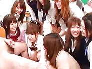 A Group Of Kinky Japanese Girls Seduce A Handsome Guy To Play Wi