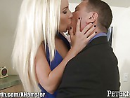 Sexy Blonde Stevie Shae Cock Sucking And Riding Older Guy