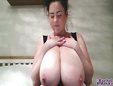 Busty Chick Rachel Showing Off Her Huge Knockers