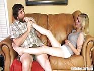 Cute Girl Mya Into Foot Fetish Teasing