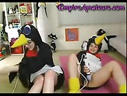 Teen Penguins Orgasm Race