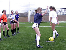 Girls On A Soccer Team Strip Down And Play The Game Naked