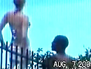 Cute Teen Caught Riding Her Black Boyfriend Poolside By A Peeper