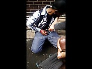 Foot Worshipper On The Street