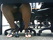 Candid Video Of My Latina Coworker's Gorgeous Feet In Sandals