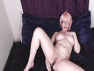 Katt Anomia Massages Tits And Fucks Glass Dildo