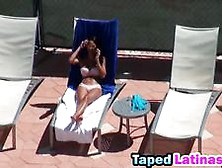 Topless Latina Sun Bathing Invited For Hotel Fuck Video